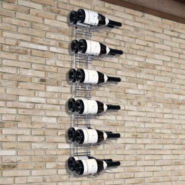 Botellero de pared VisioRack de metal para Magnums